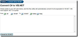 Convert .NET Code